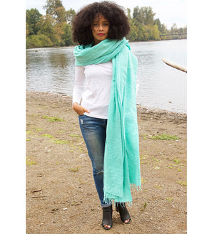 Sea Glass Ethiopian Cotton Gabi Body Shawl