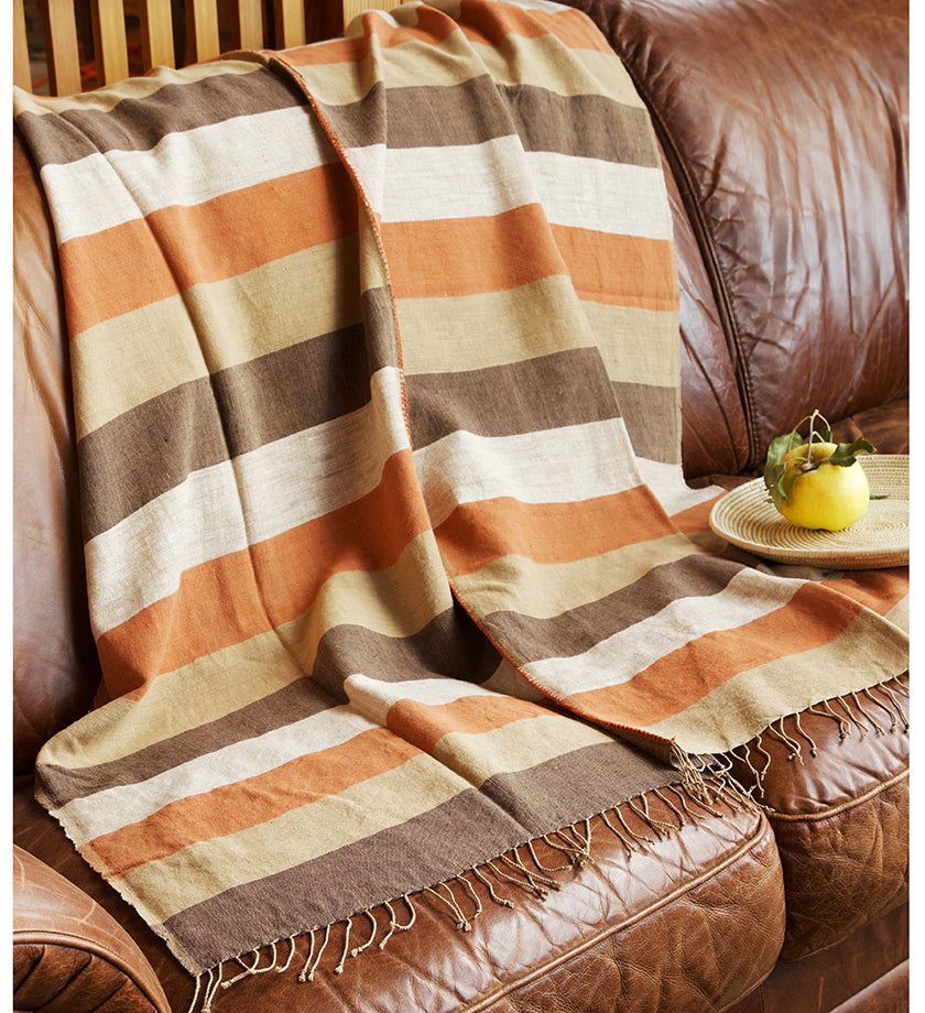 Ethiopian Harvest Moon Cotton Throw