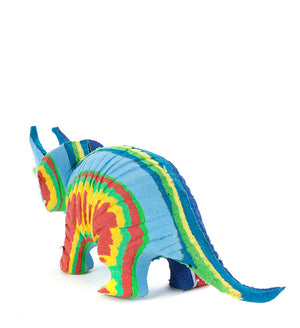 Fun Triceratops Dinosaur Recycled Flip Flop Sculptures