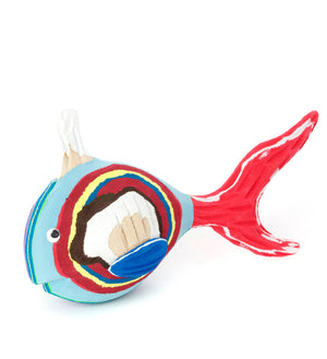 Adventurous Fish Recycled Flip Flop Sculpture
