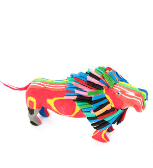 Lovable Lion Recycled Flip Flop Sculpture
