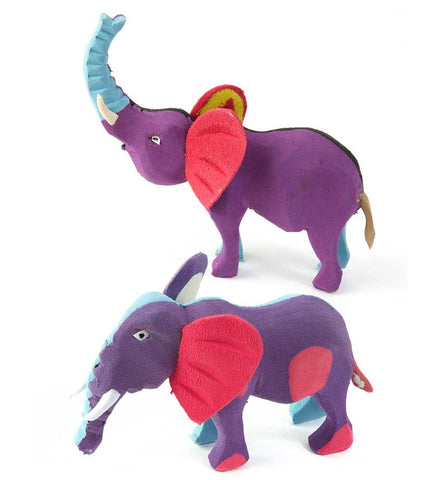 Small Recycled Flip Flop Elephant Sculptures
