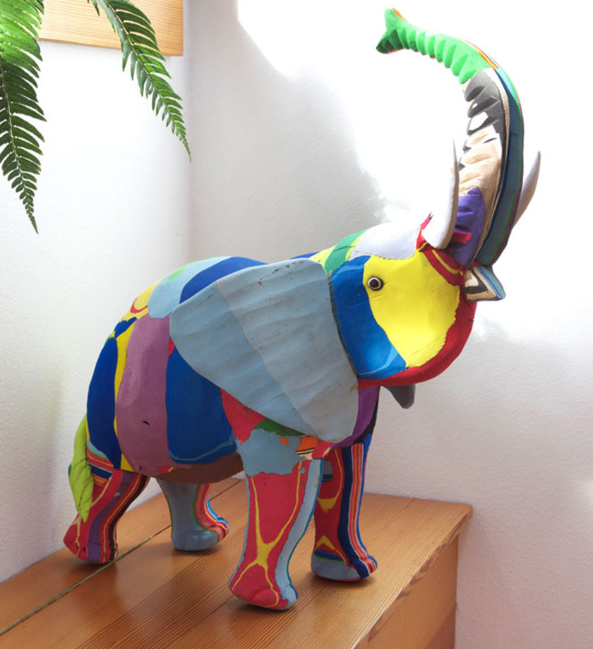 Extra Large Mighty Elephant Recycled Flip Flop Sculpture