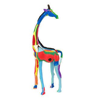 Grand Giraffe Recycled Flip Flop Sculpture