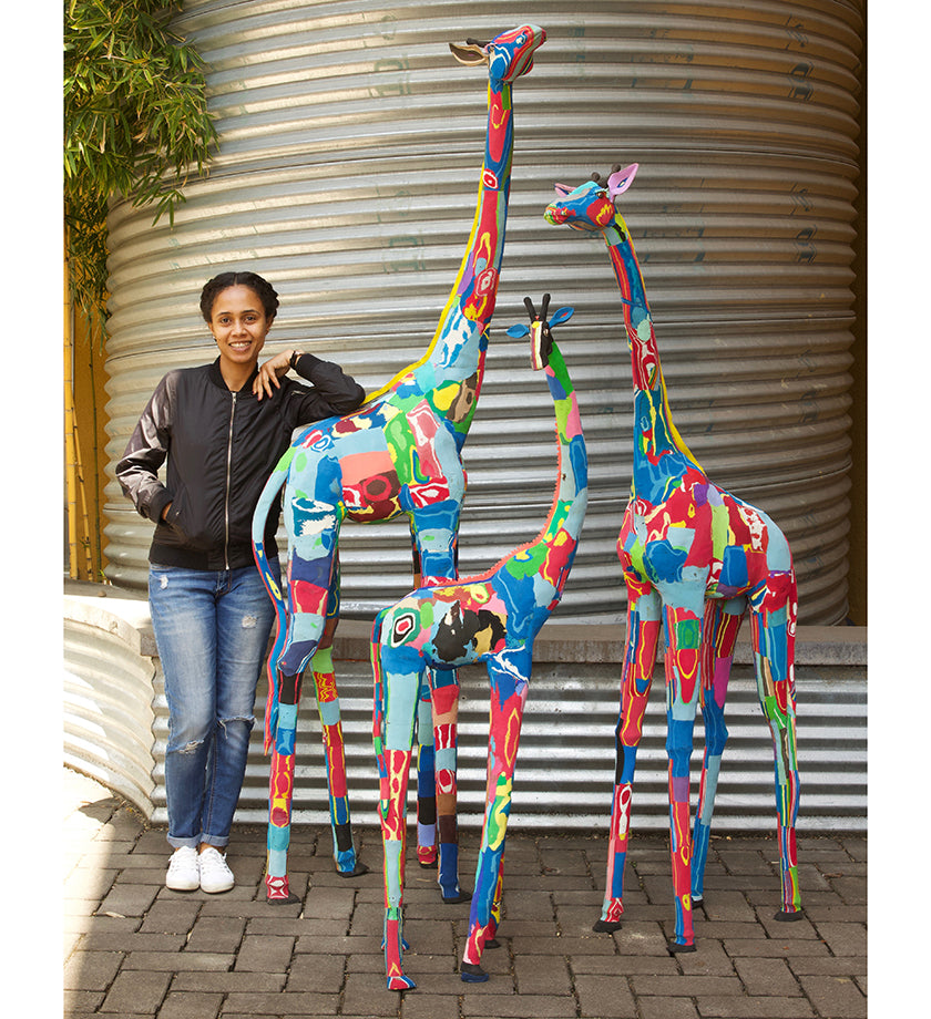 Limited Edition Extra Tall Giraffe Flip Flop Sculptures