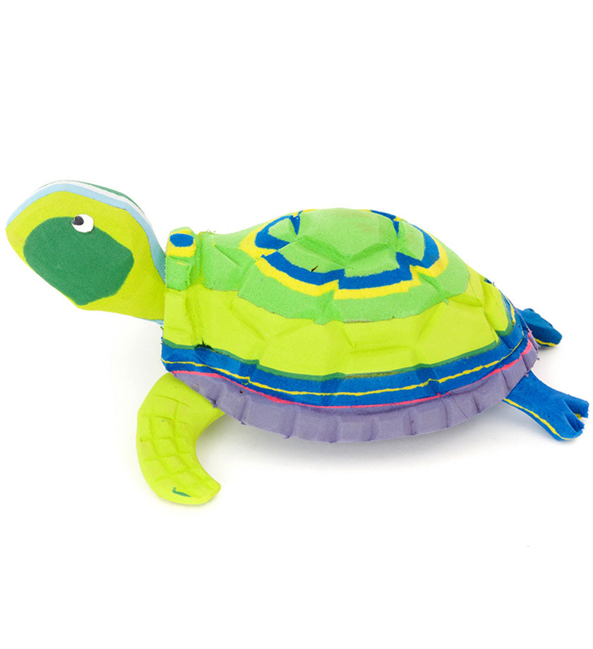 Cheerful Turtle Recycled Flip Flop Sculpture