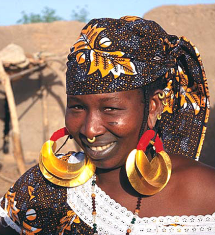 Twirled Brass Fulani Earrings - Jewelry Handmade in Africa - Swahili Modern - 7