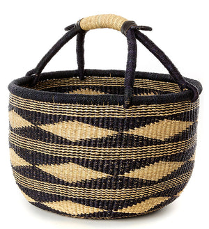 Black and Natural Diamond Bolga Basket