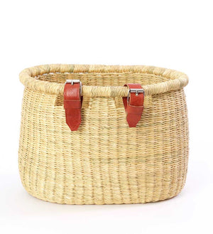 Woven Elephant Grass Bike Baskets - Basket Handmade in Africa - Swahili Modern - 5