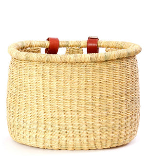 Natural Woven Elephant Grass Bike Baskets