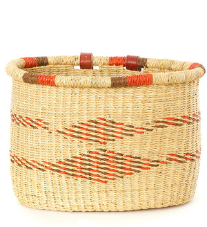 Saffron Diamonds Woven Bike Basket
