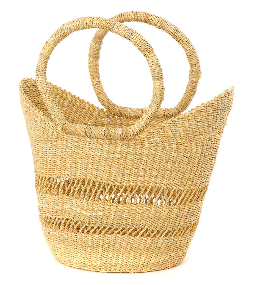 Natural Lacy Petite Shopper