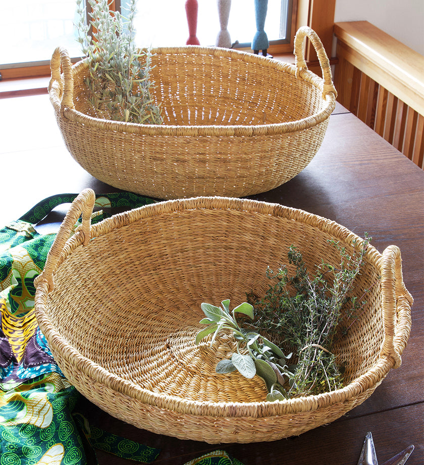 Set/2 Elephant Grass Garden Baskets