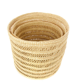 Set of Three Veta Vera Lace Bins