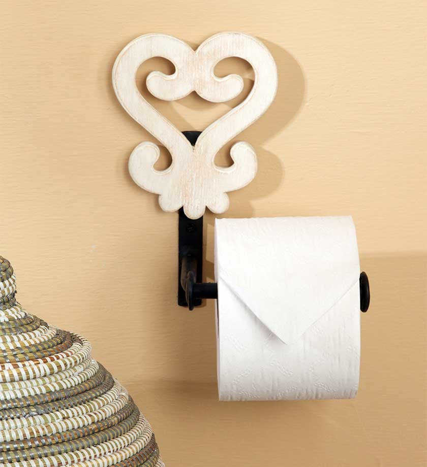 White Adinkra Toilet Roll Holders - Furniture Handmade in Africa - Swahili Modern - 1