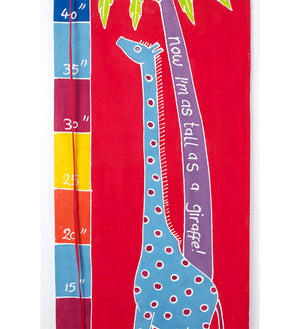 Safari Fun Giraffe Height Chart