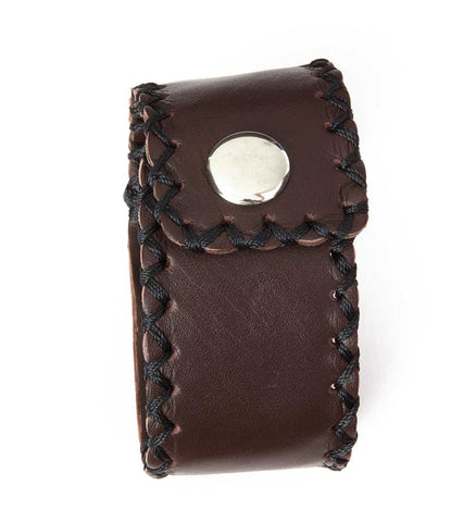 Brown Leather Mission Bracelet - Jewelry Handmade in Africa - Swahili Modern - 5