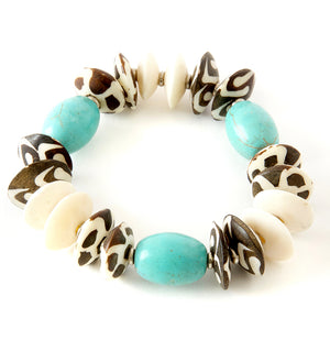 Tranquility Bracelet in Turquoise and Bone