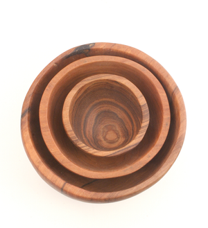 Chef's Olive Wood Bowl Trio - Kitchen Handmade in Africa - Swahili Modern - 2