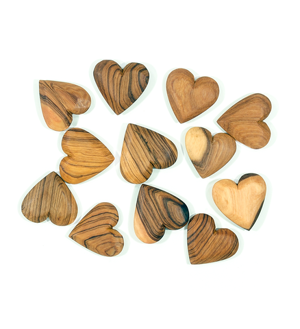 Hand-Carved Olive Wood Hearts - Home Decor Handmade in Africa - Swahili Modern - 2