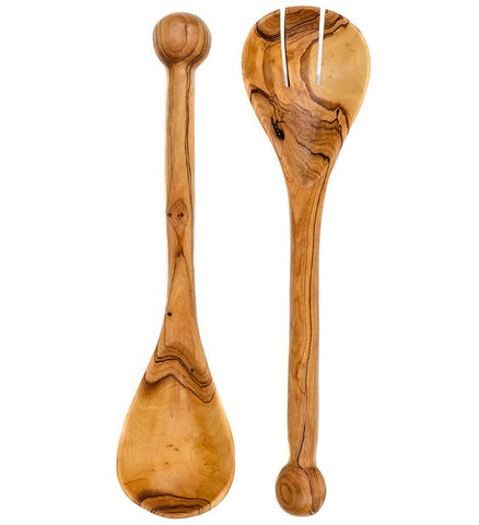 African Ball Handled Salad Servers - Kitchen Handmade in Africa - Swahili Modern - 1