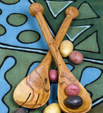 African Ball Handled Salad Servers - Kitchen Handmade in Africa - Swahili Modern - 2
