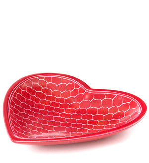 Fuchsia Heart Shaped Giraffe Print Bowl