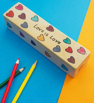 Love is Love Rectangular Soapstone Box