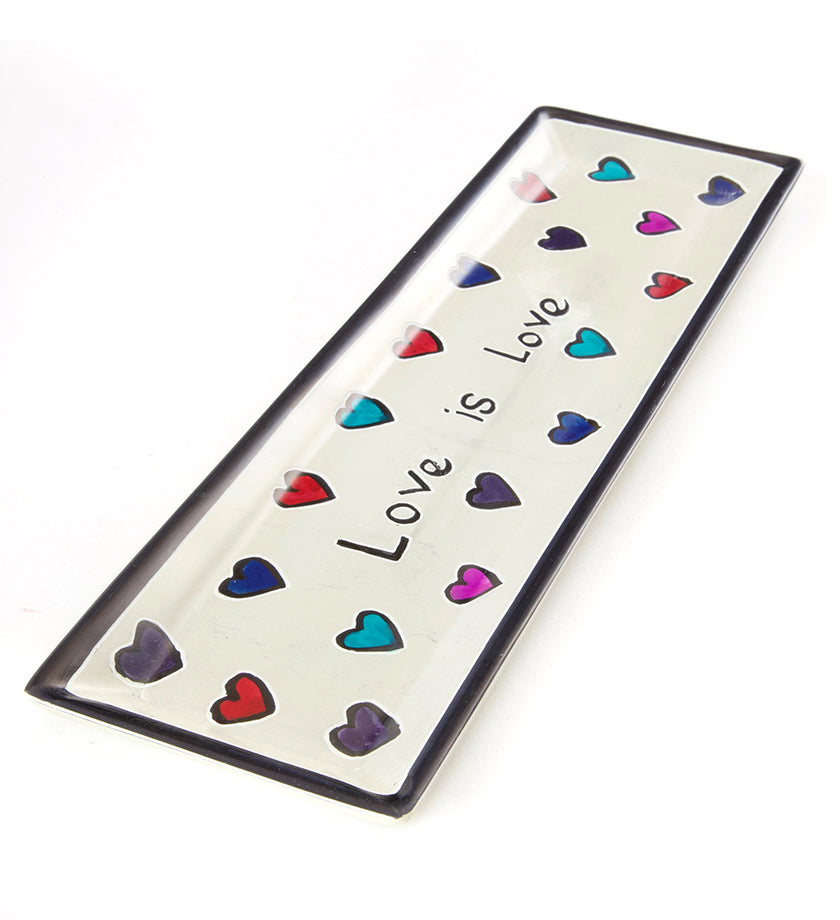 Love is Love Rectangular Soapstone Tray