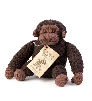 Handknit Cotton Stuffed Gorilla - Basket Handmade in Africa - Swahili Modern - 3