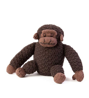 Handknit Cotton Stuffed Gorilla - Basket Handmade in Africa - Swahili Modern - 1