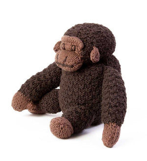 Handknit Cotton Stuffed Gorilla - Basket Handmade in Africa - Swahili Modern - 2