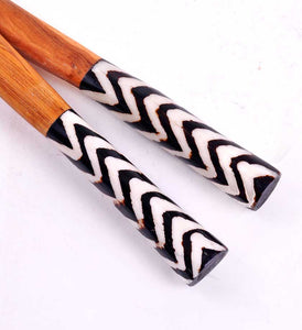 African Servers with Zig Zag Bone Handles - Kitchen Handmade in Africa - Swahili Modern - 3