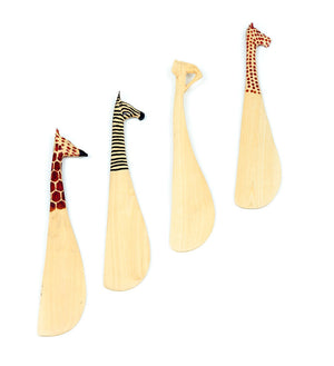 Set of Four Jacaranda Safari Spreaders - Art & Sculpture Handmade in Africa - Swahili Modern - 1
