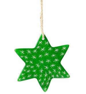 Set/3 Soapstone Star Ornaments - Undugu Society
