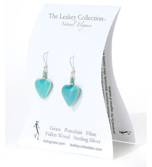 Follow Your Heart Handcrafted Porcelain Earrings