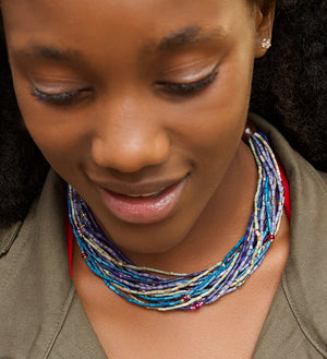 Watamu Multi-Strand Zulugrass Necklace
