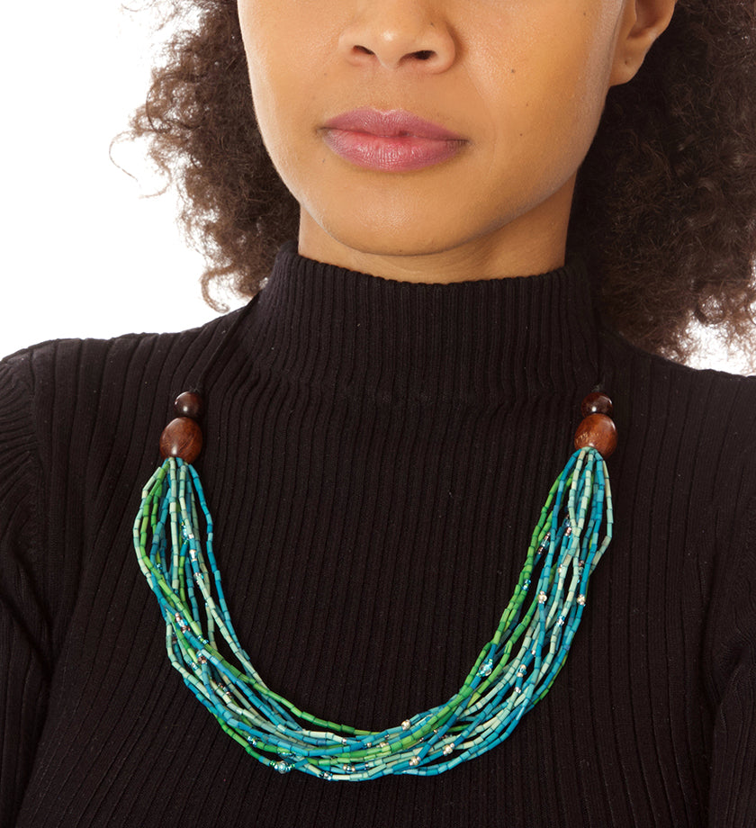 Calypso Multi-Strand Zulugrass Necklace