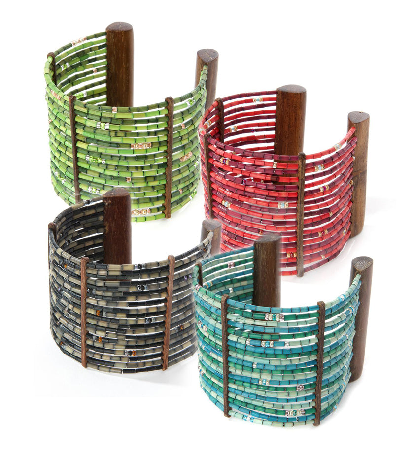 Zulugrass Cuff Bracelets Available in Four Colors