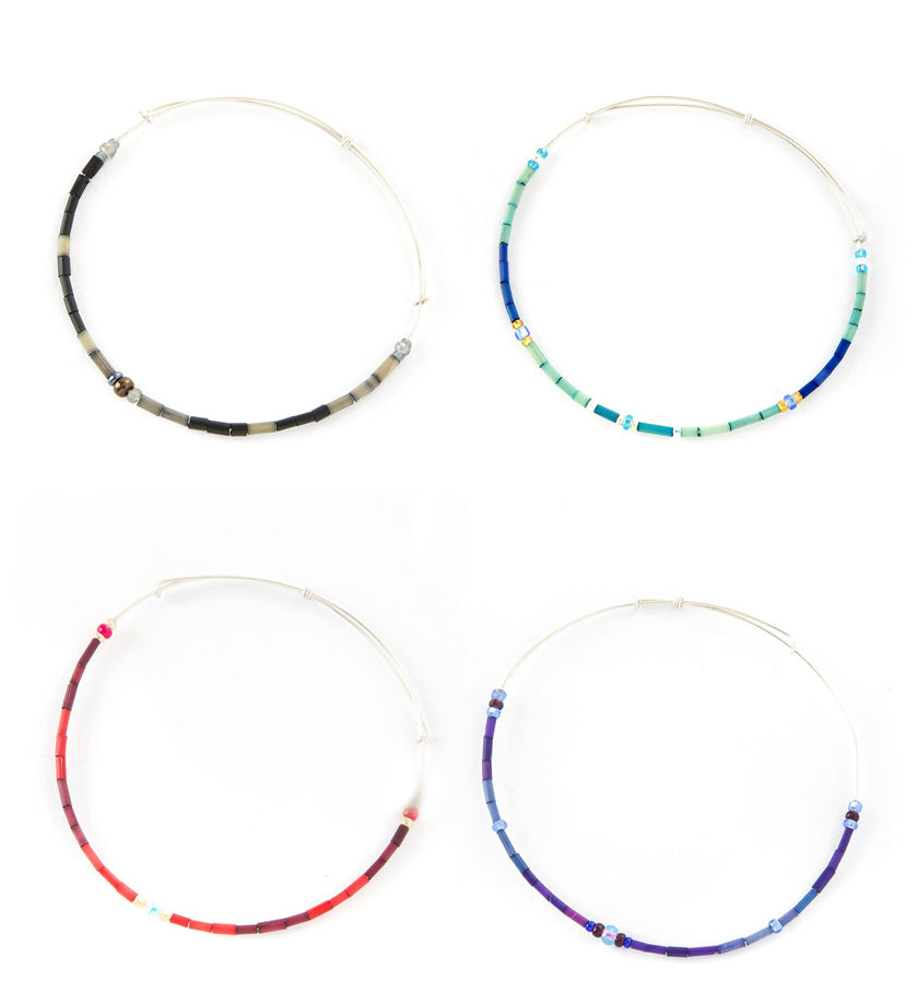 Zulugrass Adjustable Wire Hoop Bracelet Four Colors Available