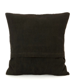 Black Ségou Squares Mud Cloth Throw Pillow
