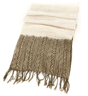 Gray Organic Cotton Open Weave Scarf