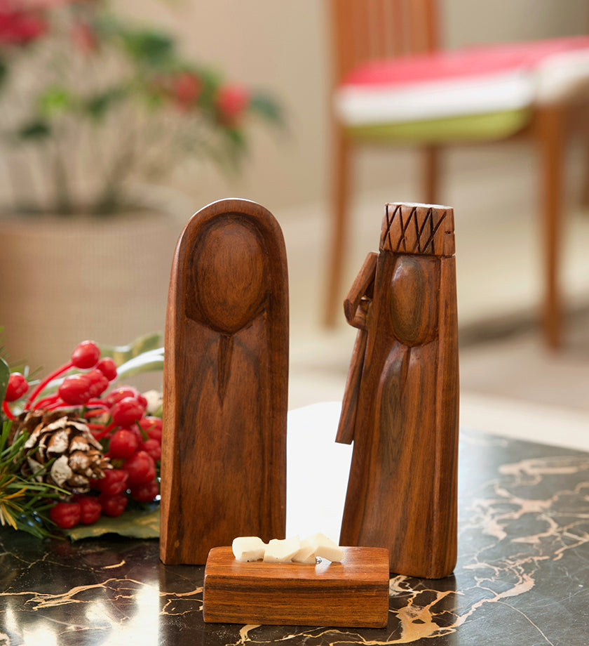 Three-Piece Sandalwood Nativity