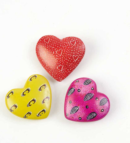 Assorted African Soapstone Hearts - Soapstone Handmade in Africa - Swahili Modern - 2