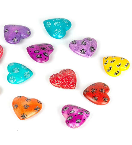 Assorted African Soapstone Hearts - Soapstone Handmade in Africa - Swahili Modern - 3