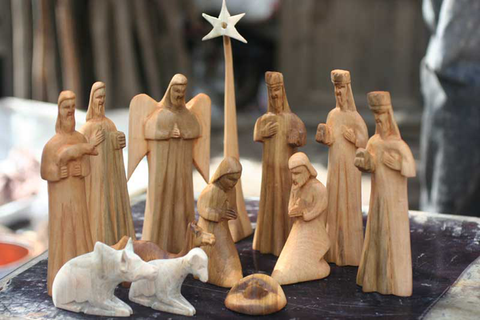 Hand-Carved Wood Nativity - Christmas Handmade in Africa - Swahili Modern - 3