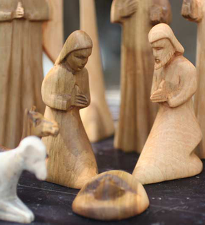 Hand-Carved Wood Nativity - Christmas Handmade in Africa - Swahili Modern - 2