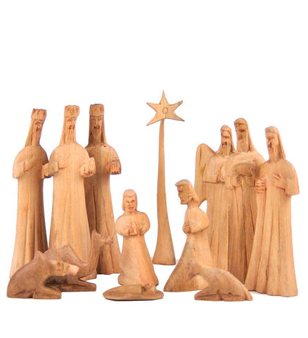 Hand-Carved Wood Nativity - Christmas Handmade in Africa - Swahili Modern - 1