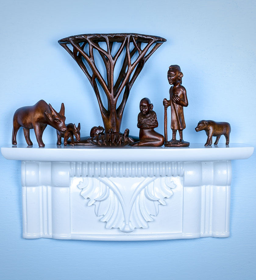 African Acacia Tree Nativity - Christmas Handmade in Africa - Swahili Modern - 2