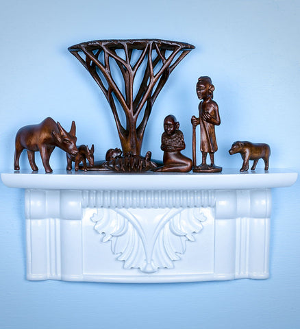 African Acacia Tree Nativity - Christmas Handmade in Africa - Swahili Modern - 1
